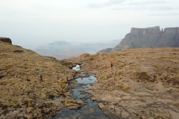 Weekend amphitheater hike drakensberg